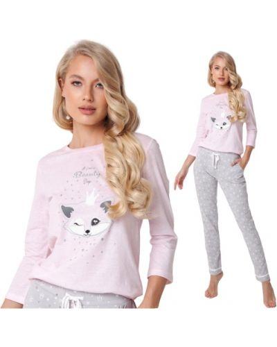 Różowa piżama bawełniana Aruelle