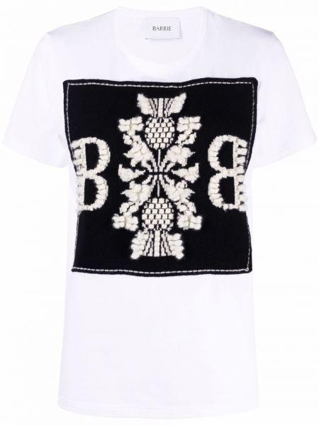Biała koszulka z haftem Barrie