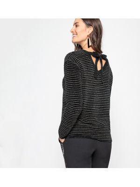 Пуловер вязаный с V-образным вырезом Anne Weyburn