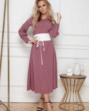 Платье с поясом платье-сарафан с рукавами Leleya