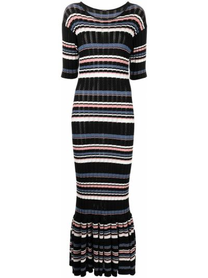 Хлопковое платье макси - черное Adam Lippes