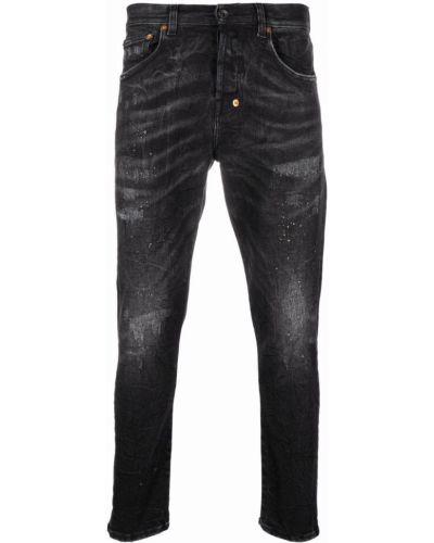 Klasyczne czarne jeansy z paskiem Prps