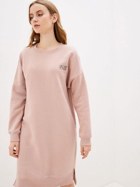 Платье платье-толстовка розовое Sela