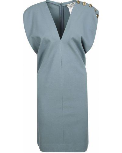 Niebieska sukienka na co dzień srebrna Givenchy