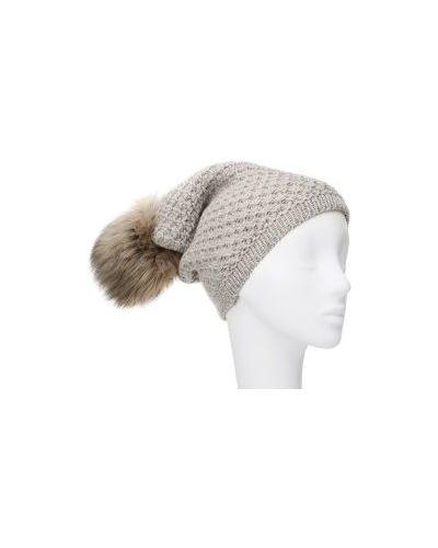 Вязаная шапка кашемировая с помпоном La Neve
