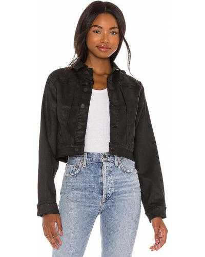 Ватная черная джинсовая куртка с карманами 7 For All Mankind