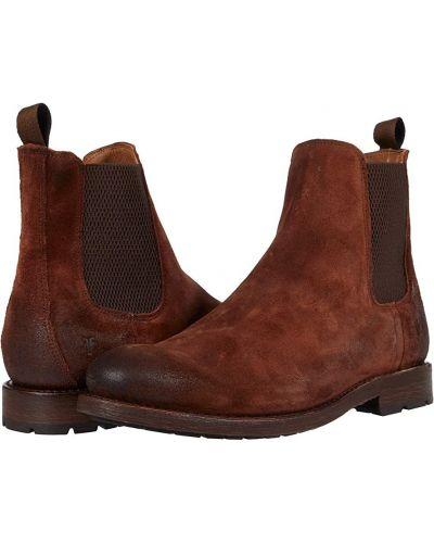 Замшевые ботинки челси - коричневые Frye