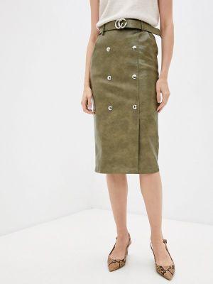 Кожаная юбка - хаки Miss Gabby