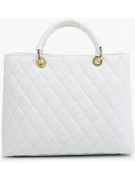 Кожаная сумка с ручками белый Giulia Monti
