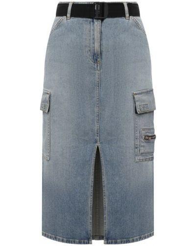 Хлопковая синяя джинсовая юбка 3x1