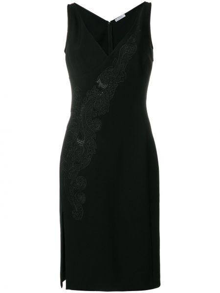 Кружевное платье - черное Versace Collection