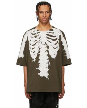 Рубашка с короткими рукавами с воротником с черепами хаки 99% Is