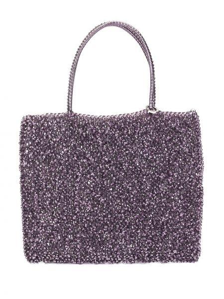 Фиолетовая сумка-тоут круглая Anteprima