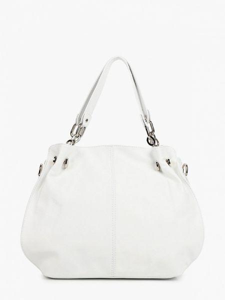 Белая кожаная сумка из натуральной кожи Roberta Rossi