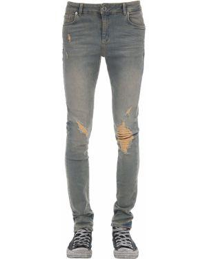 Niebieskie jeansy z paskiem Flaneur Homme