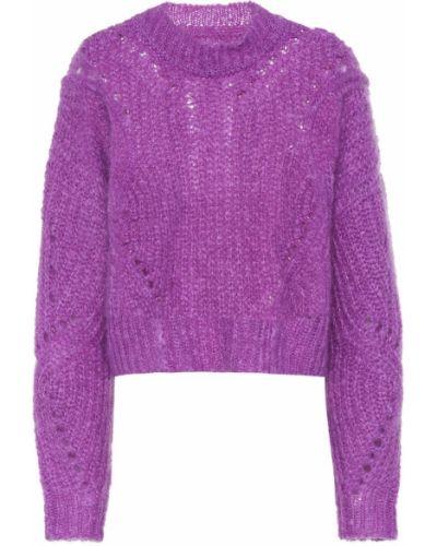 Малиновый свитер из мохера Isabel Marant