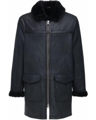 Czarny płaszcz Schott