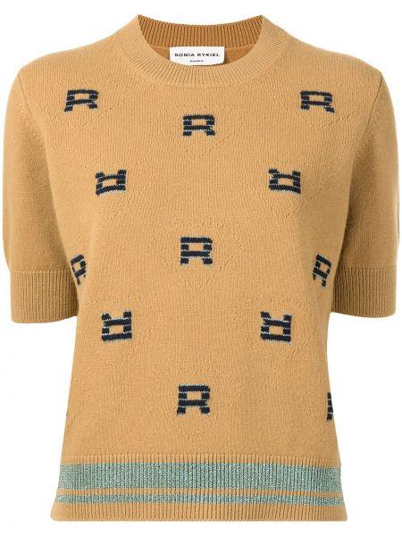 Пуловер с вырезом - коричневый Sonia Rykiel