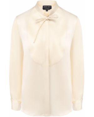 Блузка шелковая бежевый Giorgio Armani