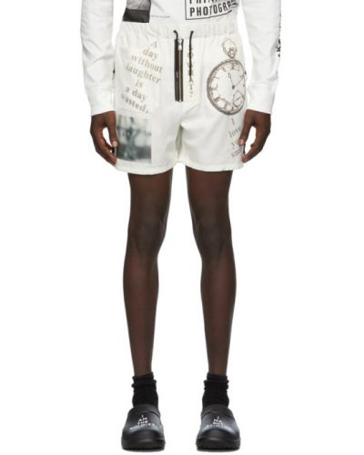 Шерстяные белые шорты с карманами Takahiromiyashita Thesoloist.