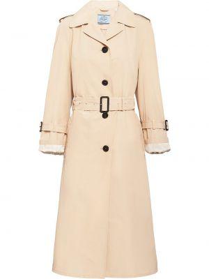 Długi płaszcz od płaszcza przeciwdeszczowego z kieszeniami Prada