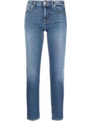 Синие джинсы с карманами 7 For All Mankind