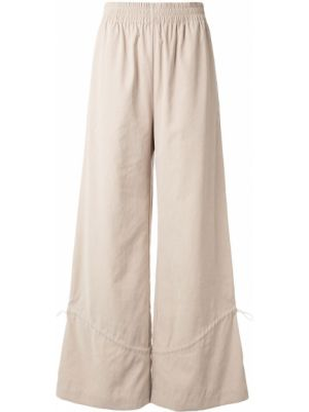 Коричневые свободные брюки с поясом свободного кроя с высокой посадкой Nehera