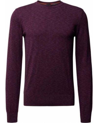 Fioletowy sweter dzianinowy Boss Casualwear