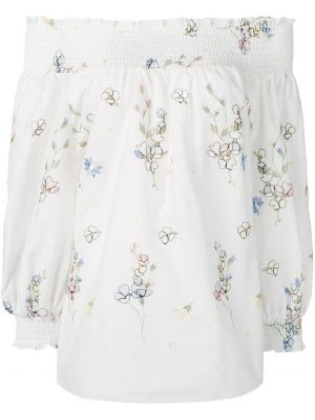 Рубашка из вискозы - белая Blugirl