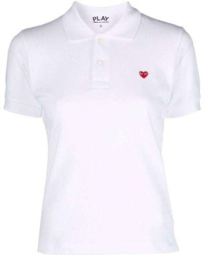 Biała koszula krótki rękaw - biała Comme Des Garcons Play