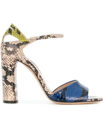 Синие сандалии Casadei
