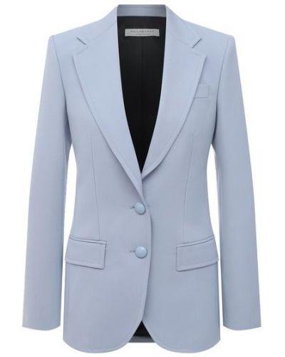 Шерстяной синий пиджак с подкладкой Philosophy Di Lorenzo Serafini