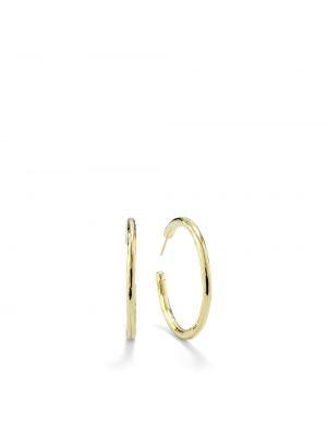 Золотистые серьги-кольца золотые Ippolita