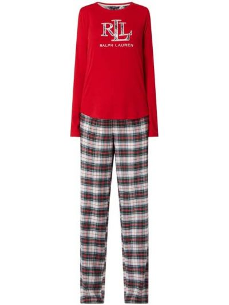 Bawełna piżama spodni piżama z dekoltem z kieszeniami Lauren Ralph Lauren