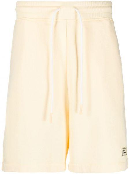 Żółte krótkie szorty bawełniane Drole De Monsieur