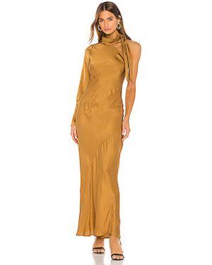 Вечернее платье на пуговицах шелковое Young Fabulous & Broke