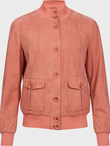 Акриловая розовая куртка на пуговицах Gallotti