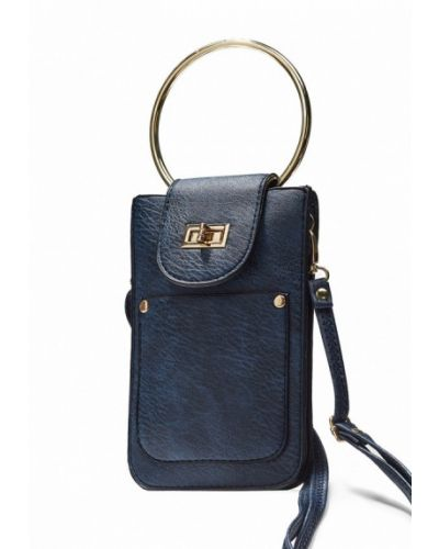 Синяя кожаный сумка Nothing But Love