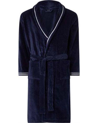 Niebieski szlafrok bawełniany w paski Hom