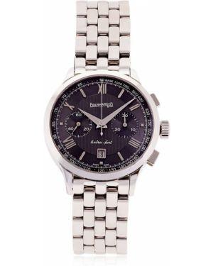 Zegarek mechaniczny srebrny szafir Eberhard & Co.