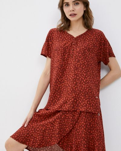 Красная блузка с короткими рукавами Luhta