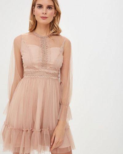 Вечернее платье бежевое Danity