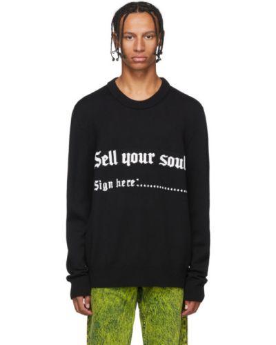 Шерстяной белый свитер с воротником с манжетами Nasaseasons
