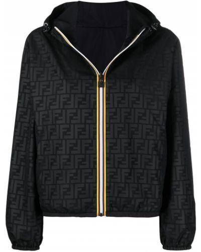 Куртка с капюшоном - черная Fendi