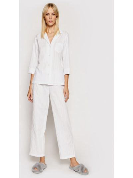 Biała piżama Lauren Ralph Lauren