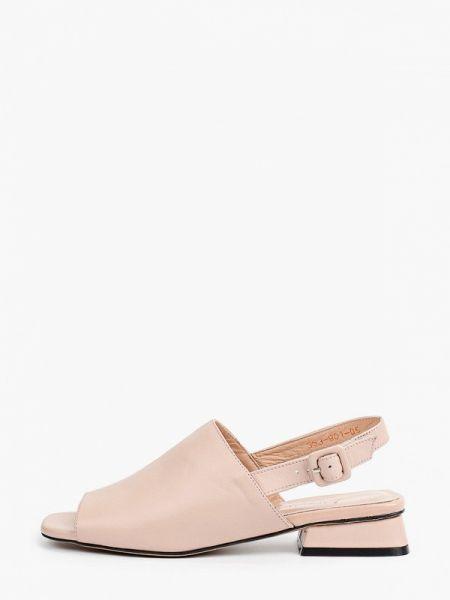 Кожаные розовые сандалии Laremo