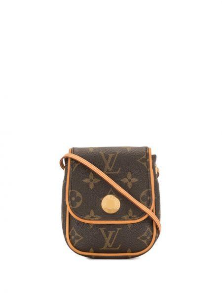 Кожаная коричневая маленькая сумка винтажная Louis Vuitton
