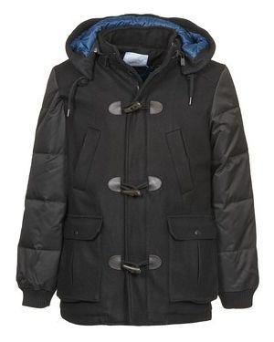 Czarny płaszcz przeciwdeszczowy Eleven Paris