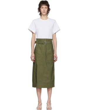 Платье с поясом из поплина вязаное 3.1 Phillip Lim