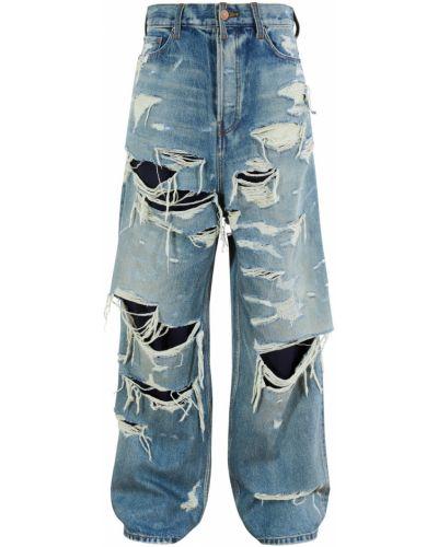 Хлопковые джинсы - синие Balenciaga